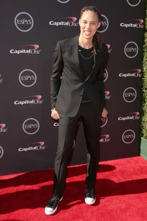 Former Baylor star Brittney Griner on the red carpet.