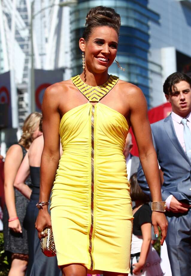 Track and Field athlete Lolo Jones on the red carpet.