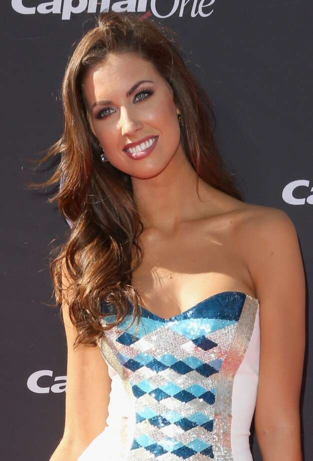 TV personality Katherine Webb on the red carpet.
