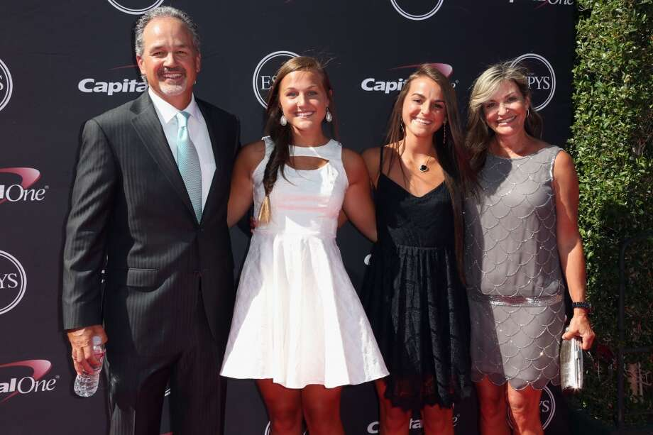 NFL coach Chuck Pagano and his family on the red carpet.