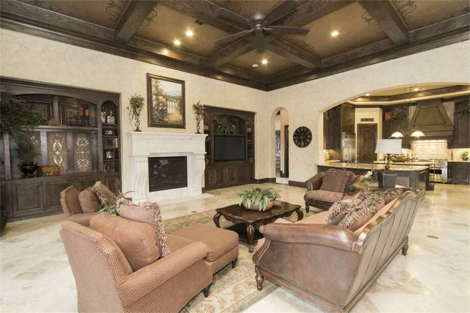 This $3.5 million home features six bedrooms and seven bathrooms in more than 10,000 square feet of living space. The home is location in The Woodlands.