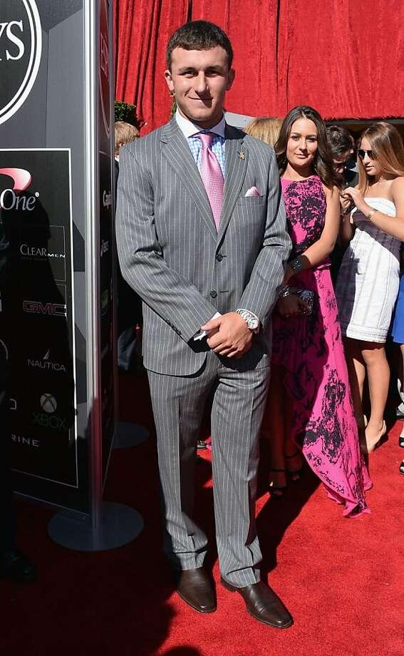 Heisman winner Johnny Manziel attends The 2013 ESPY Awards. Photo: Alberto E. Rodriguez, Getty Images For ESPY
