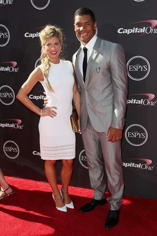 Seahawks quarterback Russell Wilson and Ashton Meem attend The 2013 ESPY Awards Nokia Theatre L.A. Live on Wednesday, July 17, 2013 in Los Angeles. Photo: Frederick M. Brown, Getty Images