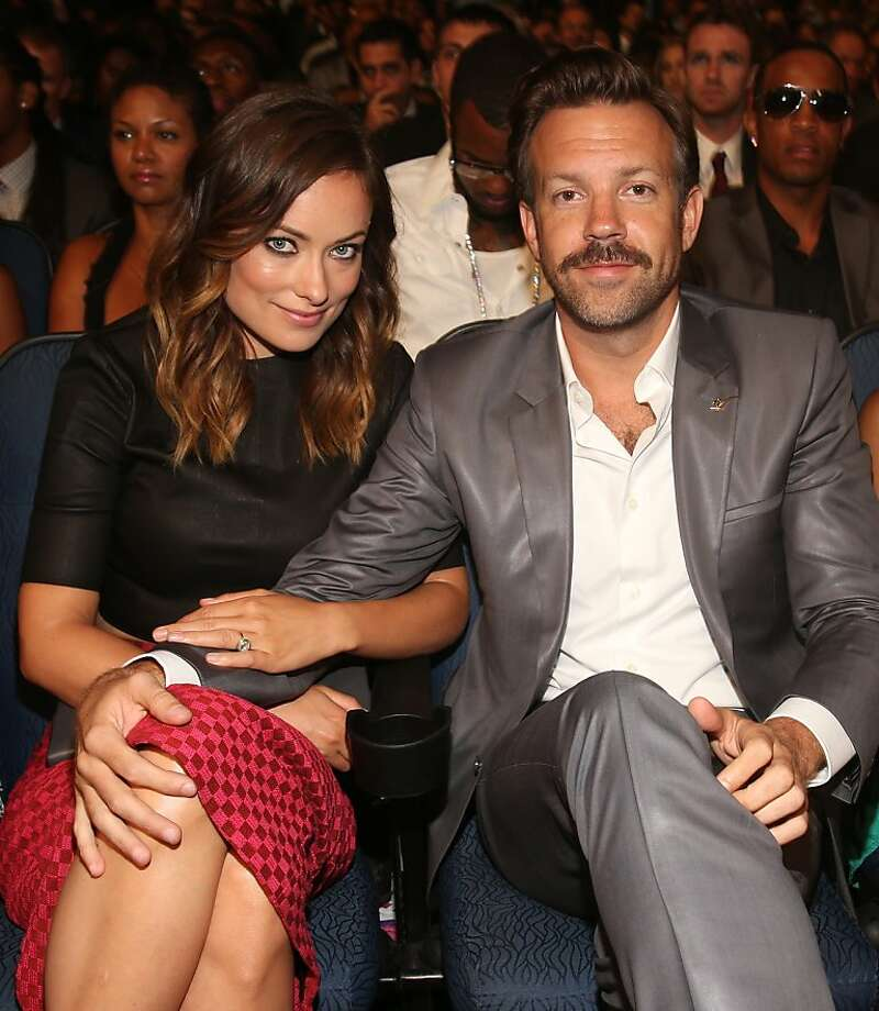 Actors Olivia Wilde and Jason Sudeikis attend The 2013 ESPY Awards at Nokia Theatre L.A. Live on July 17, 2013 in Los Angeles, California.  Photo: Christopher Polk, Getty Images For ESPY
