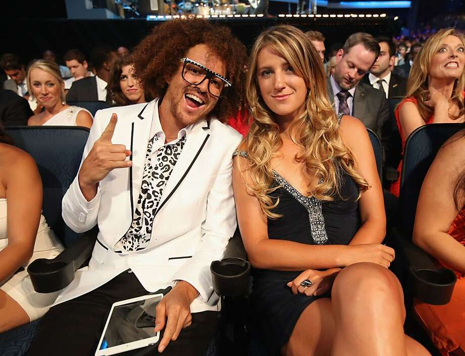 Singer Stefan 'Redfoo' Gordy (L) and tennis player Victoria Azarenka attend The 2013 ESPY Awards. Photo: Christopher Polk, Getty Images For ESPY