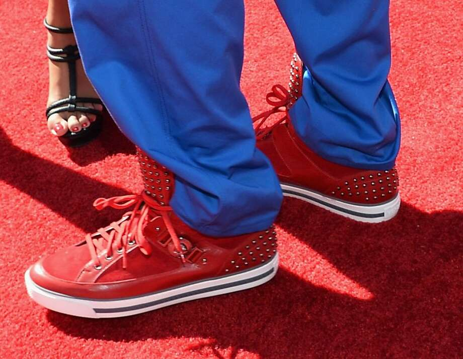 Colin Kaepernick (shoe detail) attends The 2013 ESPY Awards. Photo: Alberto E. Rodriguez, Getty Images For ESPY