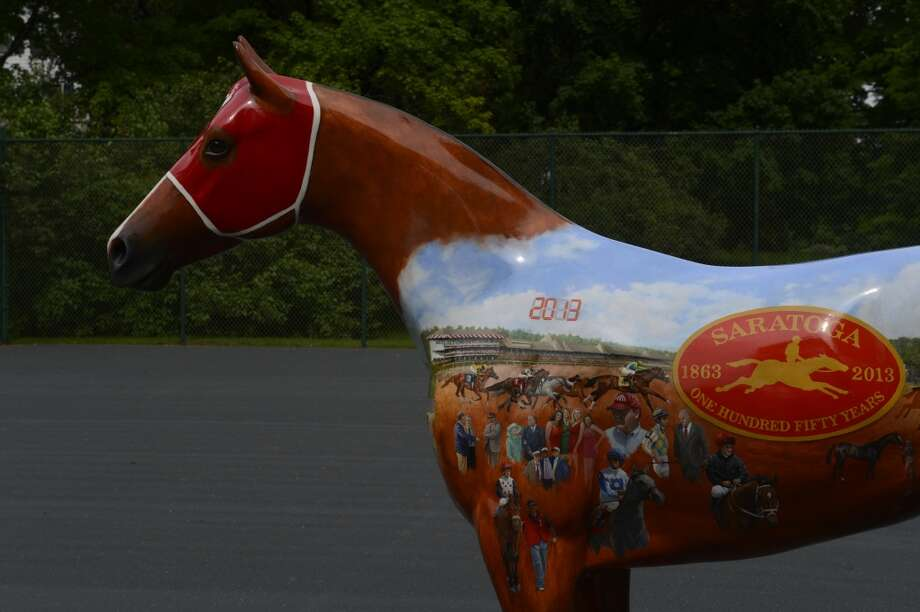 Horse painted by artist Robert Clark