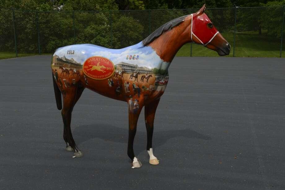 Horse painted by artist Robert Clark