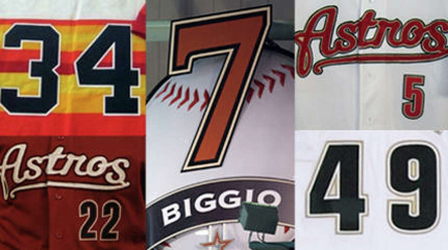Baseball is a numbers game. No other professional sport has as deep a tradition in stats as baseball. But the most fundamental number for each player is his jersey number. Here, we give you the best Astros for each jersey number. Some were easy (either because it was Jeff Bagwell or because only one player wore that number). Others were tough. We went with the number the players used the most. So, Craig Biggio, who wore No. 4 in 1987-88, will not be No. 4. He's No. 7, of course. The following numbers have never been used: 69, 70, 72, 74-76, 78-98.