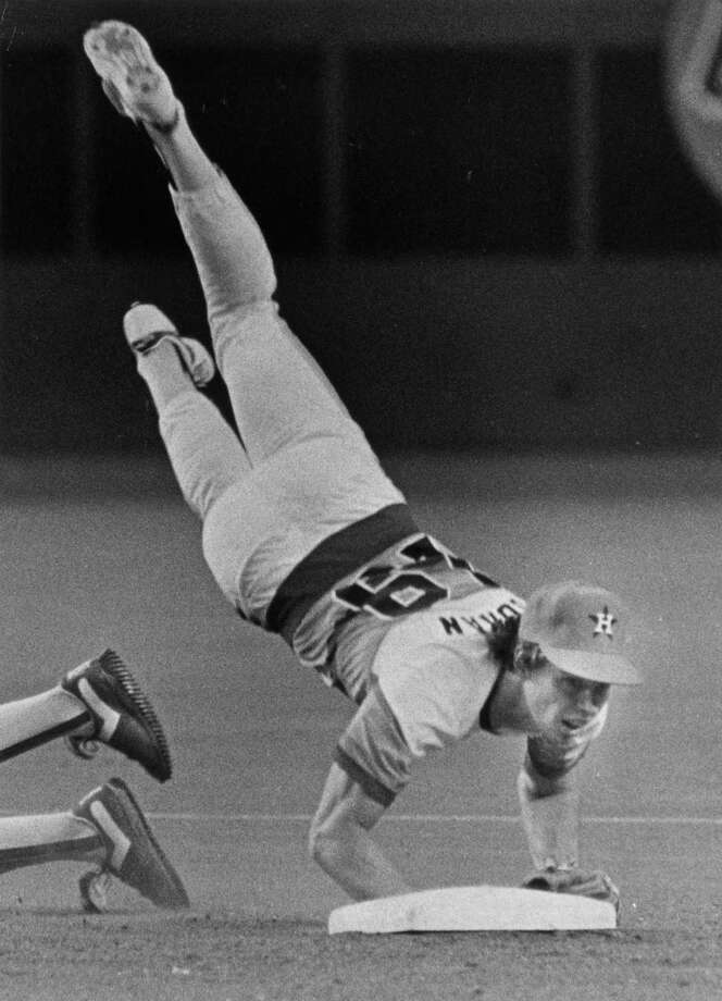 19 — Bill Doran: He played nine years at second base for the Astros from 1982-1990. Had his best year in 1987, when he hit .283 and played every game. Photo: Steve Campbell, Houston Chronicle / Houston Chronicle
