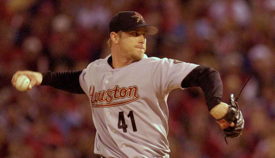 41 — Brandon Backe: Backe finished 30-28 in six seasons with the Astros. He had his best year in 2005, when the Astros went to the World Series. He finished with a career-best 10 wins in the regular season and earned two postseason victories. Photo: Melissa Phillip, Houston Chronicle / Houston Chronicle