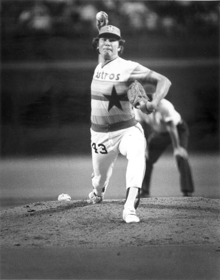 43 — Ken Forsch: He went 78-81 in 11 seasons with the Astros. He also was a reliever for four seasons and finished with 50 career saves. He was an all-star in the bullpen in 1976. Photo: Steve Ueckert, Houston Chronicle / Houston Chronicle