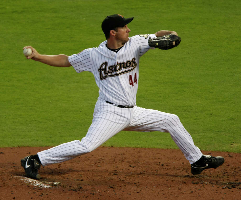 44 — Roy Oswalt: Oswalt finished one win behind Niekro on the Astros' all-time list before he was traded to the Phillies in midseason 2010. He finished 143-82 in 10 years in Houston. He was a three-time all-star and finished with a NL-best 20 wins in 2004. He had a 3-2 record in five postseason stars for the Astros. Photo: Julio Cortez, Chronicle / Houston Chronicle