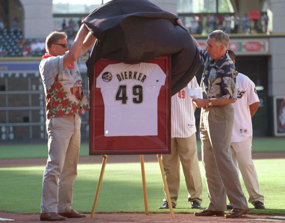 49 — Larry Dierker: Dierker is an Astros legend, simply put. Dierker, whose number was retired in 2002, finished with 137 wins (third-most in franchise history) and won four division titles in five years as Astros manager from 1997-2001. Photo: D Fahleson, Houston Chronicle / Houston Chronicle