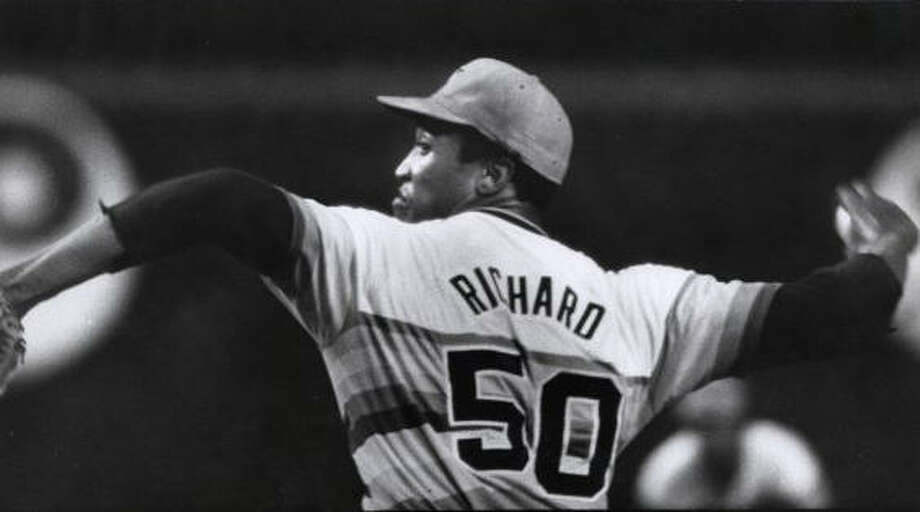 50 — J.R. Richard: Richard is fifth all-time in wins in Astros history with 107, but his career was cut short. He had a stroke in the middle of the 1980 season and never pitched again. He had the best season of his career the year before, finishing with an NL-best 2.71 ERA and earning third-place in the Cy Young race.