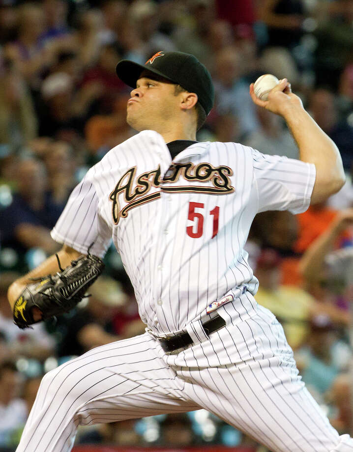 51 — Wandy Rodriguez: Rodriguez, entering his eighth year with the Astros, is 73-75 with a 4.07 ERA. He had a career-best 14 wins in 2009. Photo: Cody Duty, Houston Chronicle / © 2011 Houston Chronicle