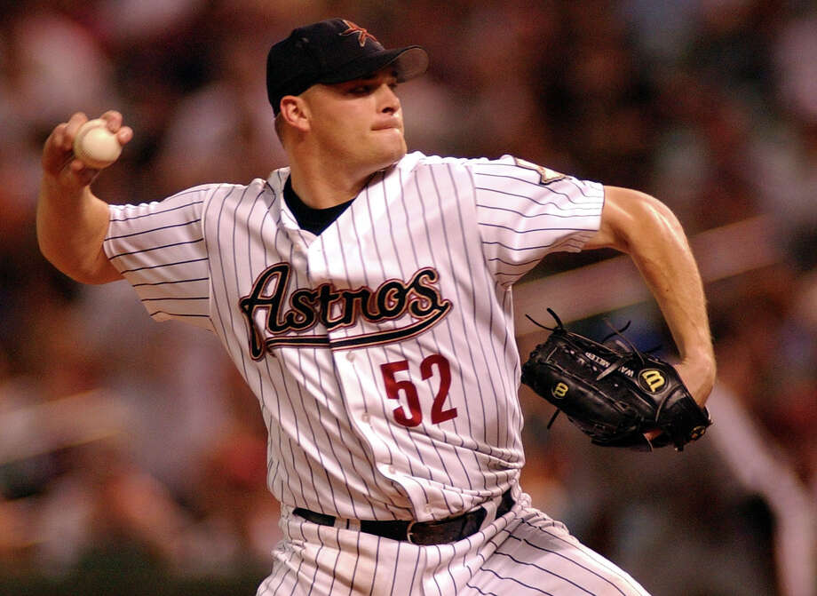 52 — Wade Miller: Miller was 58-39 from 1999-2004 with the Astros. He had 16 wins in 2001, his best season. Photo: CHRISTOBAL PEREZ, HOUSTON CHRONICLE / HOUSTON CHRONICLE
