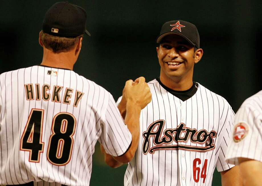 64 — Fernando Nieve: Nieve was 3-3 with a 4.20 ERA in 11 starts in 2006 with the Astros. Photo: Kevin Fujii, Houston Chronicle / Houston Chronicle