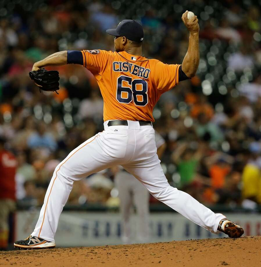 Jose Cisnero has pitched in 20 games for the Astros (before the 2013 All-Star break) while posting a 2.87 ERA.