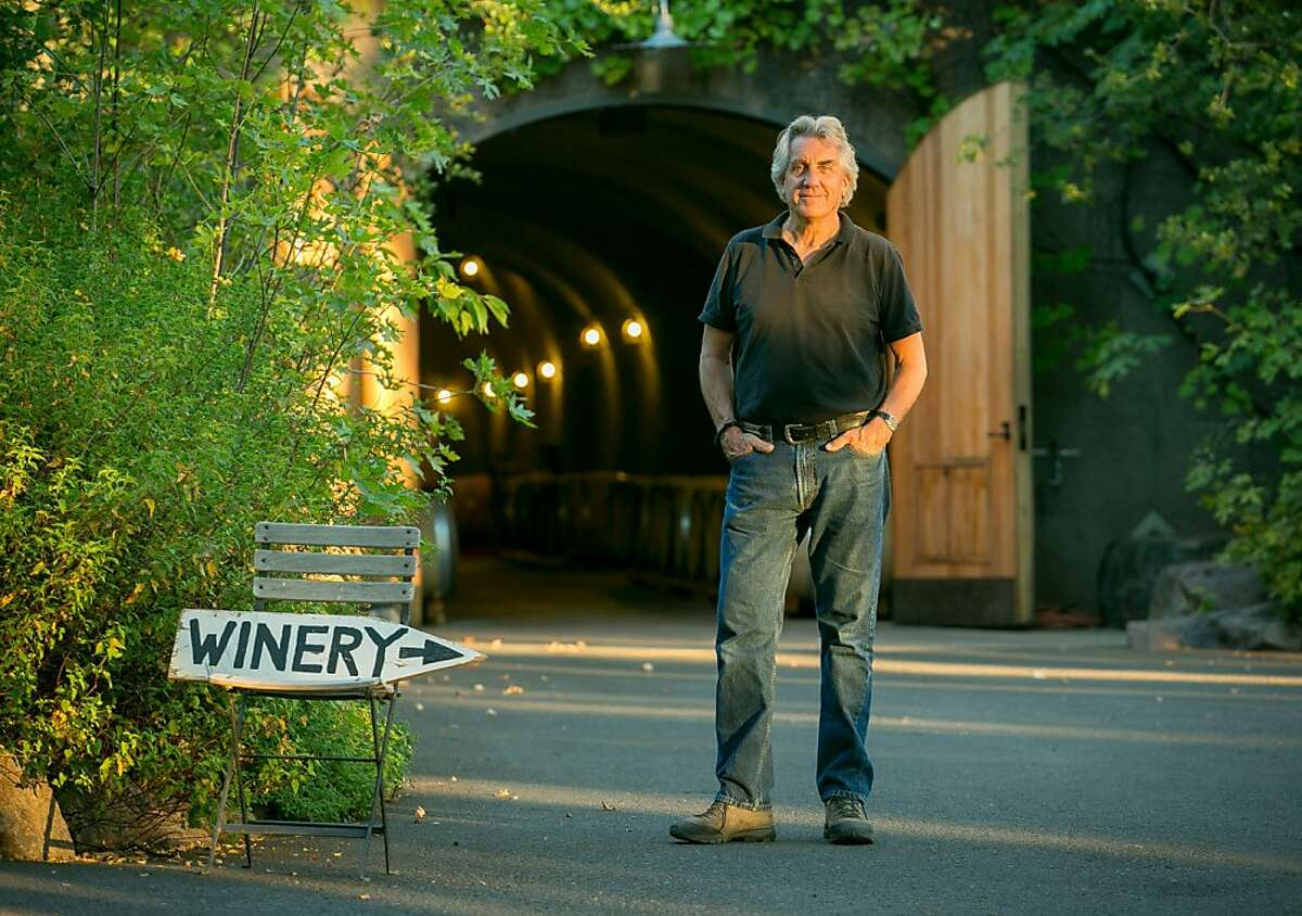 John Kongsgaard in front of his winery in Napa, Calif., is seen on Wednesday, July 10th, 2013.