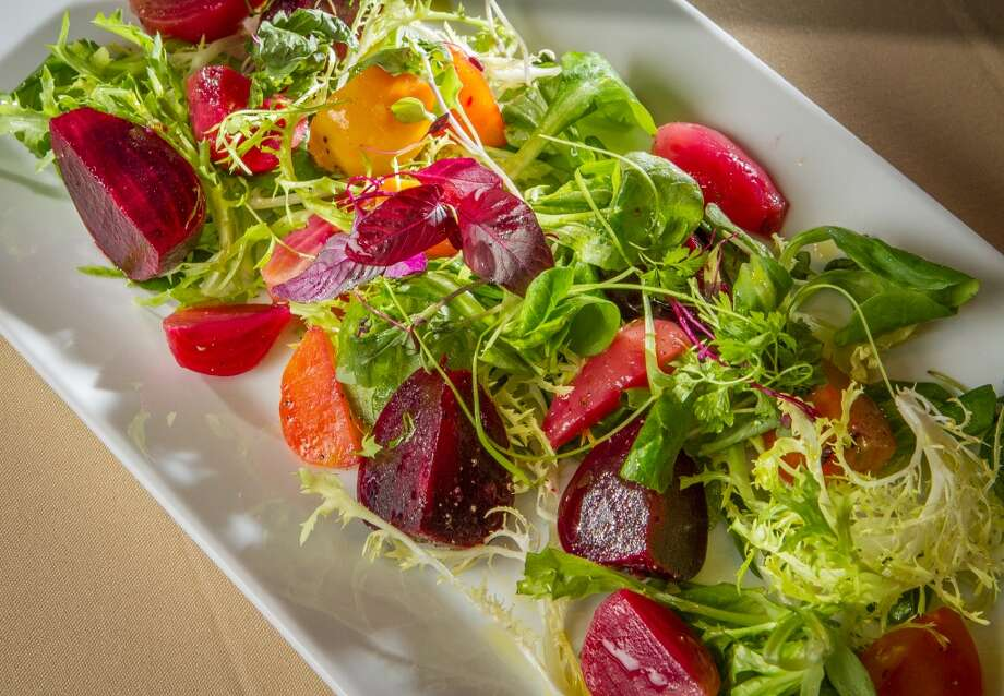 The Pickled Baby Heirloom Beet Salad ($8.75) at LB Steak in Menlo Park.