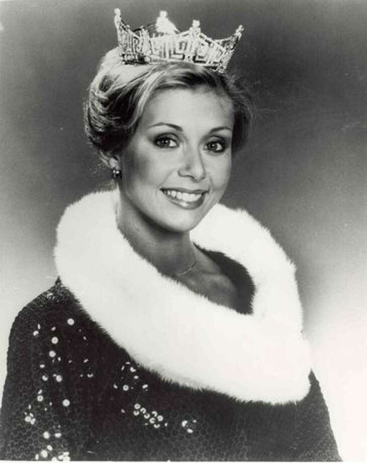 """1979: Kylene Barker, Roanoke, Va. This was host Bert Parks' last year; he sang """"There She Is, Miss America"""" as the winner moved down the catwalk. Photo: Miss America Organization"""