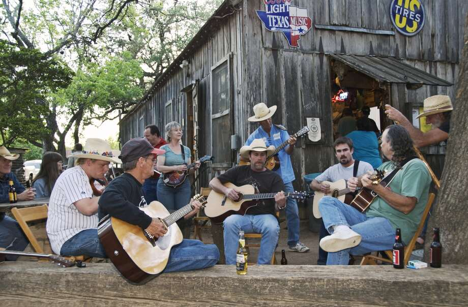 Spend Valentine's Day with a biker in Luckenbach: Show up early Friday to grab a camping spot and join the pickers' circle, then prepare for a weekend of peace, love, Texas hippies and bikers at the annual Hug-In and Valentine Ball. Be sure to pick up a t-shirt at the gift shop.
