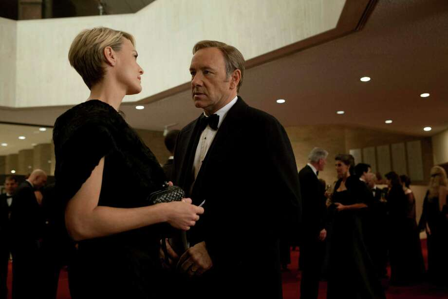 """Kevin Spacey and Robin Wright in a scene from Netflix's """"House of Cards."""" Photo credit: Melinda Sue Gordon for Netflix Photo: Netflix / Melinda Sue Gordon / Knight Takes King Prod."""