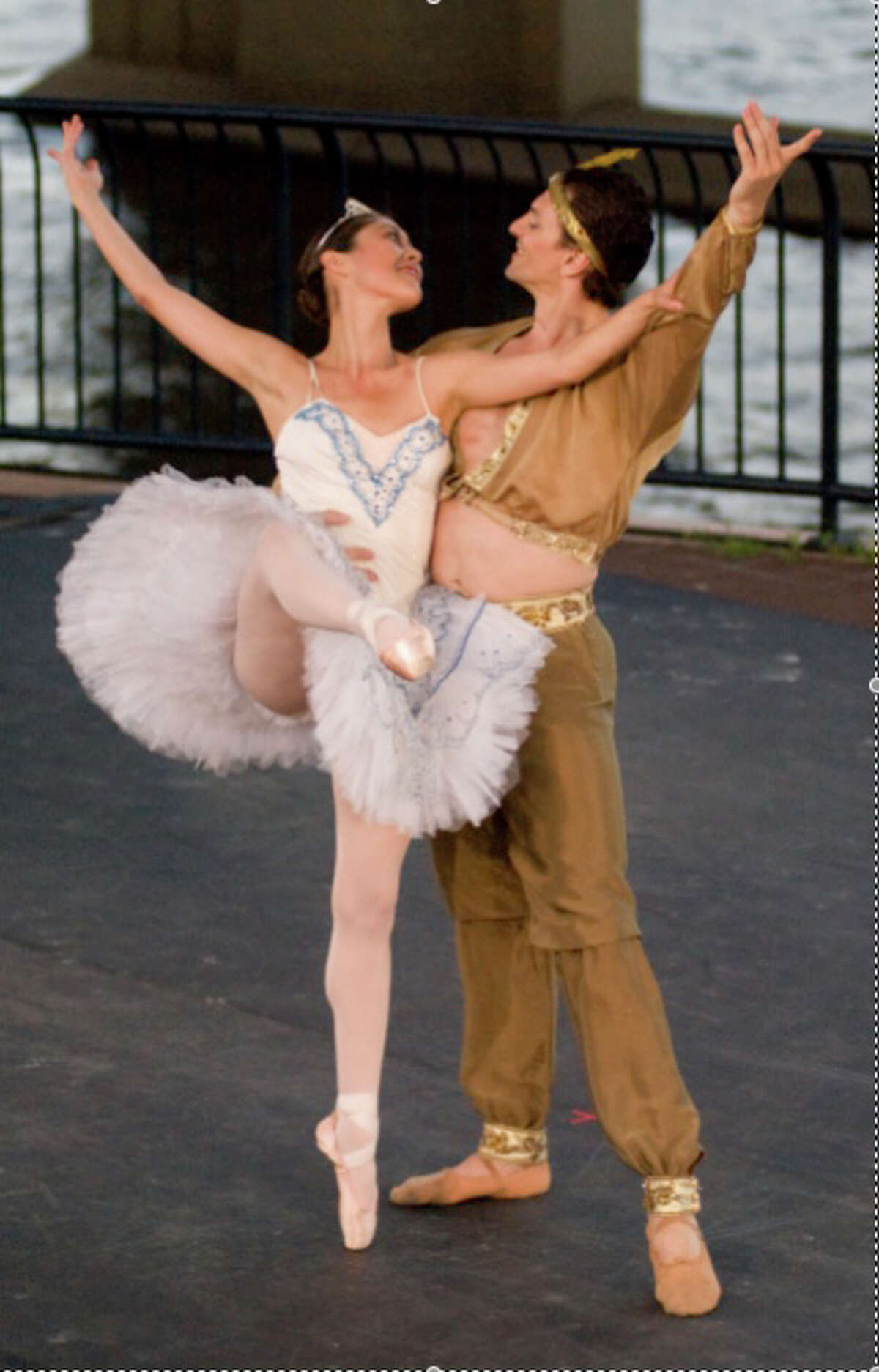 """A pas de deux from """"Swan Lake"""" will be one of the Connecticut Ballet duets at a free performance in Ives Concert Park in Danbury on Friday, July 26."""