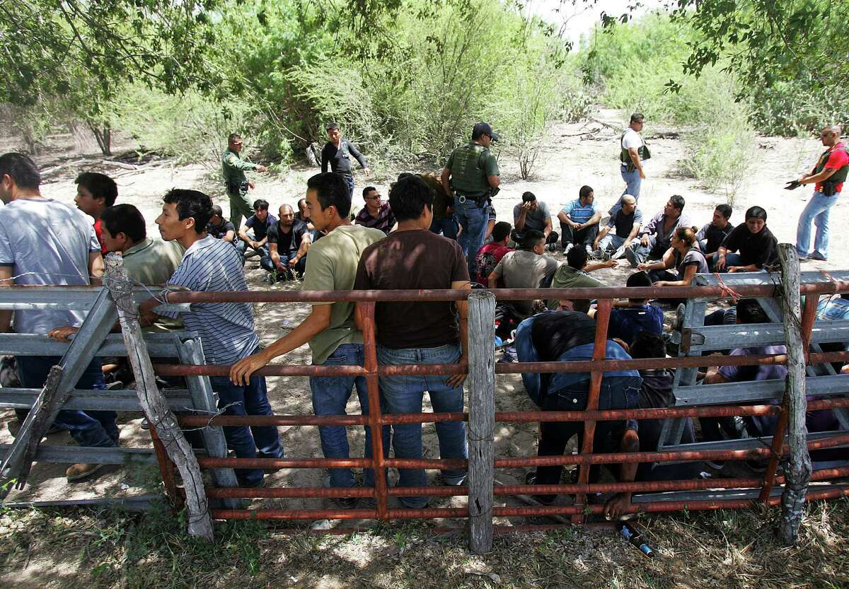 Border Patrol detainees in Edinburg. What makes some immigrants more patriotic or more able to assimilate? Is it work they come for, or the system they left?