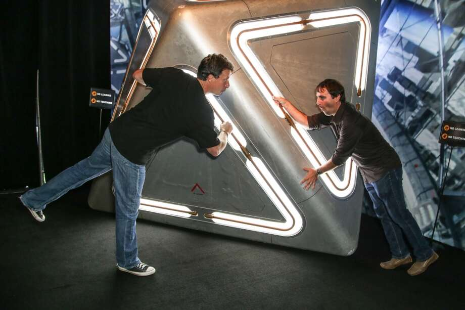 "Director Gavin Hood (L) and producer Roberto Orci attend the ""Ender's Game"" exclusive fan experience press prevew night on July 17, 2013 in San Diego, California."
