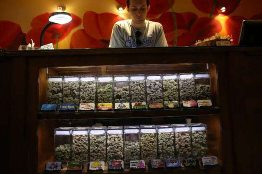 8. - How much can I buy?  A single transaction is limited to one ounce of usable marijuana, sixteen ounces of marijuana-infused product in solid form, and seventy-two ounces of marijuana-infused product in liquid form for persons twenty-one years of age and older.  In Colorado: A Retail Marijuana Store Licensee and its employees are prohibited from selling more than one ounce of marijuana or its equivalent in Retail Marijuana Products during a single sales transaction to a Colorado resident.   They are prohibited from selling more than a quarter ounce of Retail Marijuana or its equivalent in Retail Marijuana Products during a single sales transaction to a Person who does not have a valid government issued picture identification card showing that the Person is a resident of the state of Colorado.   Photo: Jason Goodwin looks over product in the dispensary at Have a Heart cooperative.