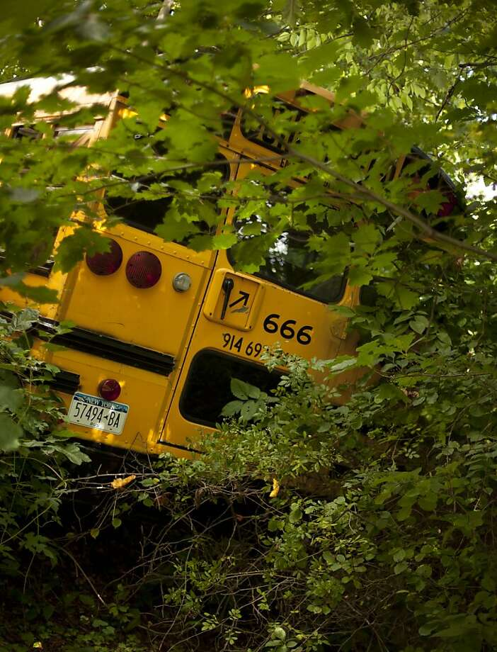 "Joshua Lutz's ""School Bus"" (2010), chromogenic print, hints at anxious introspection. Photo: Joshua Lutz"