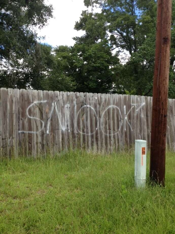"Cleveland Police say the ""Smook Gang"" has been tagging area landscape with spray paint. Photo: Cleveland PD"