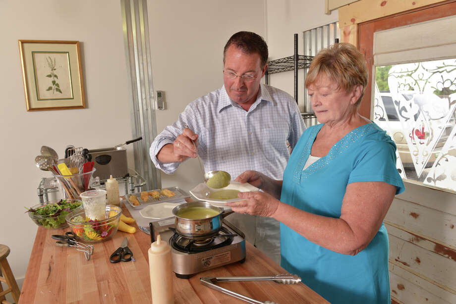 Bill Varney and Terry Thompson Anderson of Urban Herbal in Fredericksburg prepare a chilled summer squash and poblano soup. Read the recipe. Photo: For The San Antonio Express-News