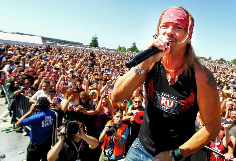 Life rocks: Bret Michaels of Poison performs at Alive@Five in Stamford on Thursday, July 25. Photo: Contributed Photo / Connecticut Post Contributed
