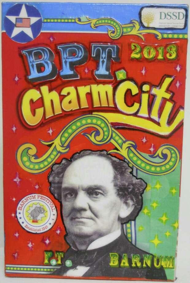"""Bridgeprot Charm City 1"" by Bridgeport artist MIA Lipstick is on view in ""Pop Art Bridgeport,"" an exhibition at Bridgeport Arts + Cultural Council. Photo: Contributed Photo"