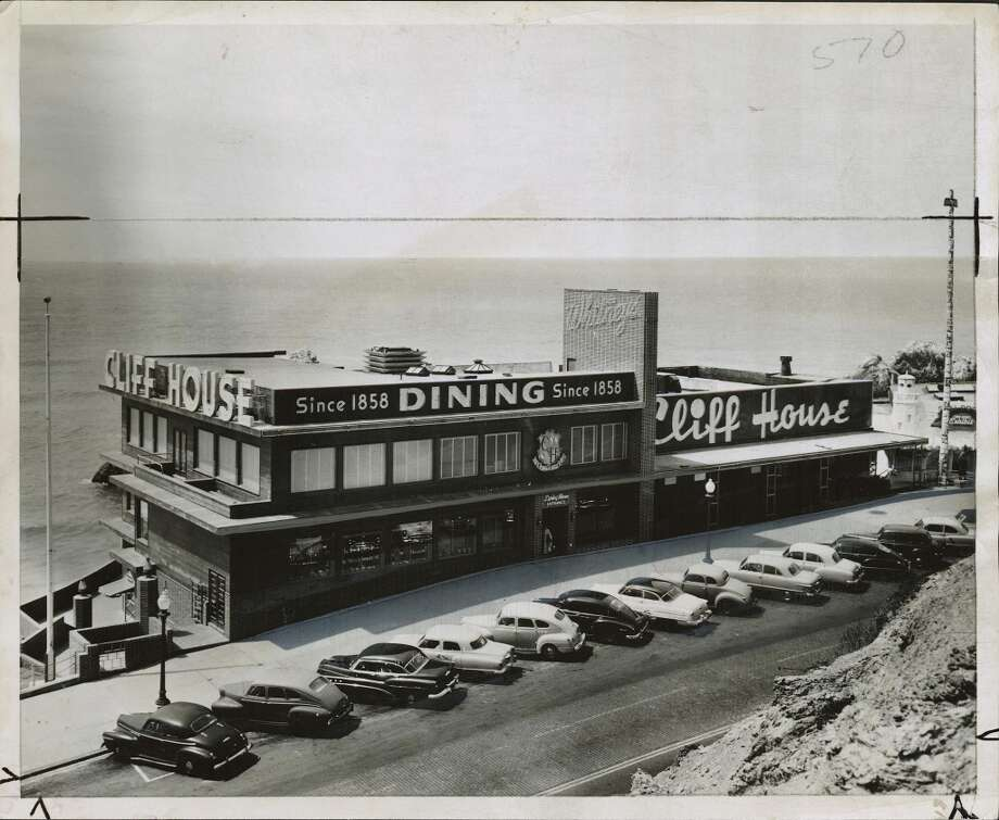The third Cliff House opened in 1909 but its look remained in flux for many decades after. Here it is in 1953. The Cliff House was acquired by the National Park Service in 1977.