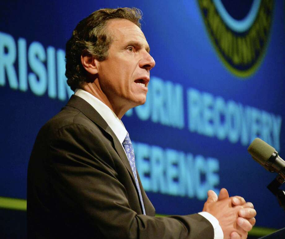 NYS Gov. Andrew Cuomo addresses the New York Rising Storm Recovery Conference in Albany, NY, Thursday July 18, 2013.  (John Carl D'Annibale / Times Union) Photo: John Carl D'Annibale / 00023230A
