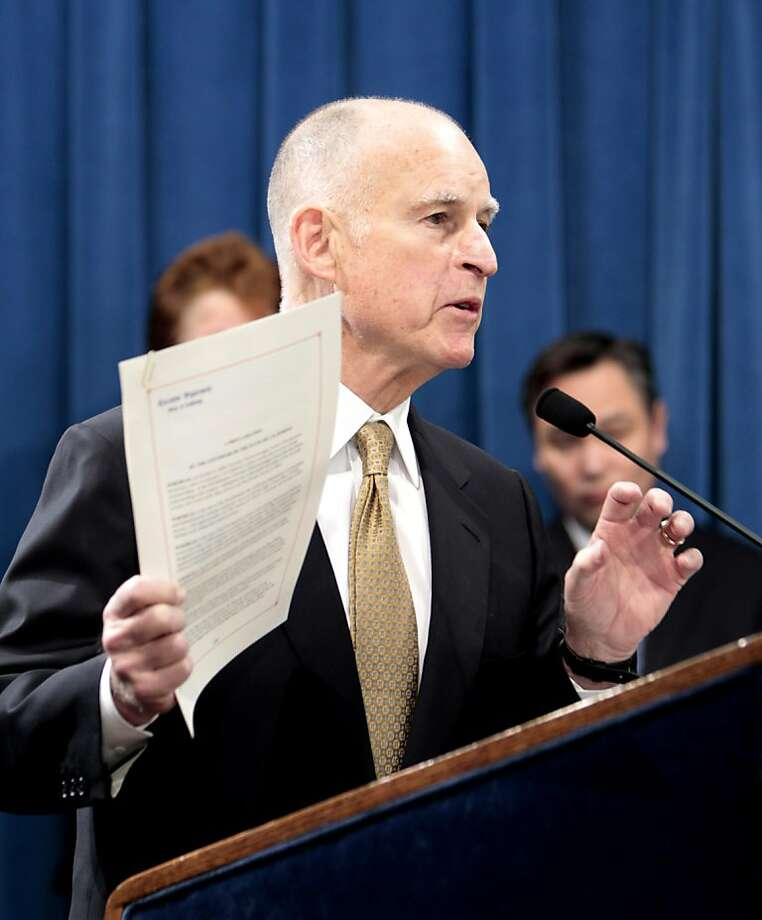 California Gov. Jerry Brown on Tuesday signed a bill that dramatically expands the state's Paid Family Leave program. Photo: Rich Pedroncelli, Associated Press