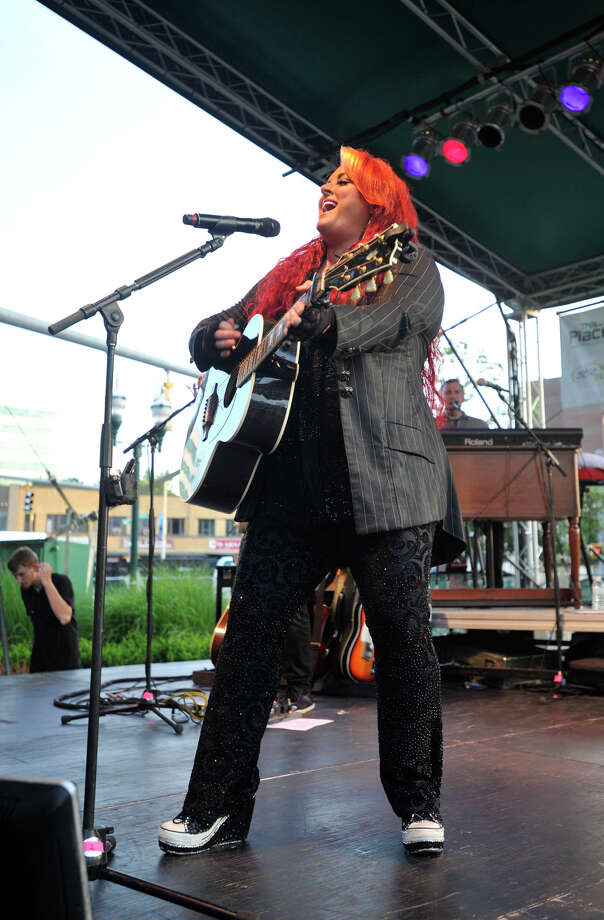 Wynonna Judd performs on stage during Alive@Five at Columbus Park in Stamford on Thursday, July 18, 2013. Hearst Connecticut Newspapers are a sponsor of the event. Photo: Jason Rearick / Stamford Advocate
