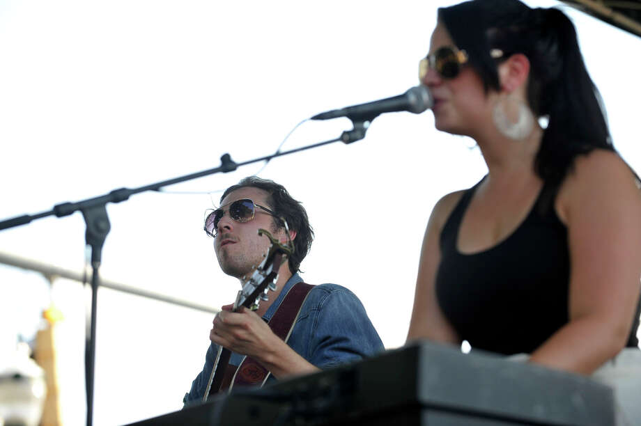 Making up the band Roses and Revolutions Matt Merritt and Alyssa Rose Coco perform during Alive@Five at Columbus Park in Stamford on Thursday, July 18, 2013. Hearst Connecticut Newspapers are a sponsor of the event. Photo: Jason Rearick / Stamford Advocate