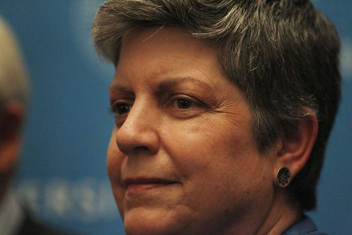 Janet Napolitano is the first woman to be UC president.