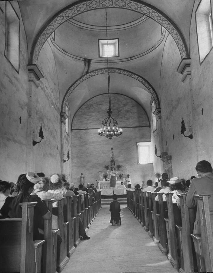 Enterior view of Mission San José, restored, used as church and historic site on Oct. 1, 1946. Photo: Cornell Capa, Time & Life Pictures / Getty Images / Time Life Pictures