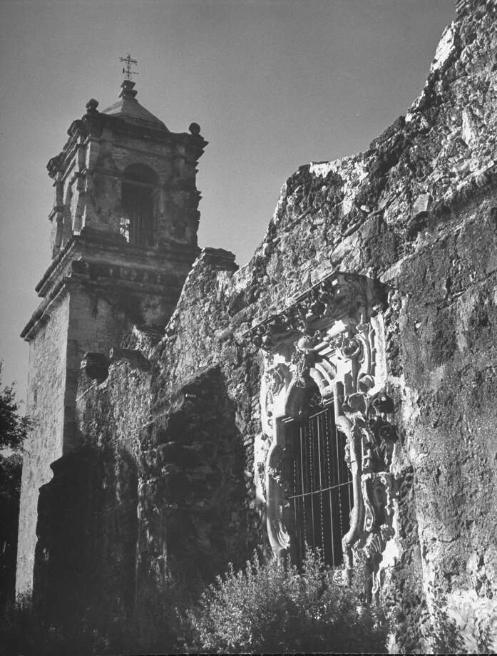 Exterior view of Mission San José, restored, used as church and historic site on Oct. 1, 1946. Photo: Cornell Capa, Time & Life Pictures / Getty Images / Time Life Pictures