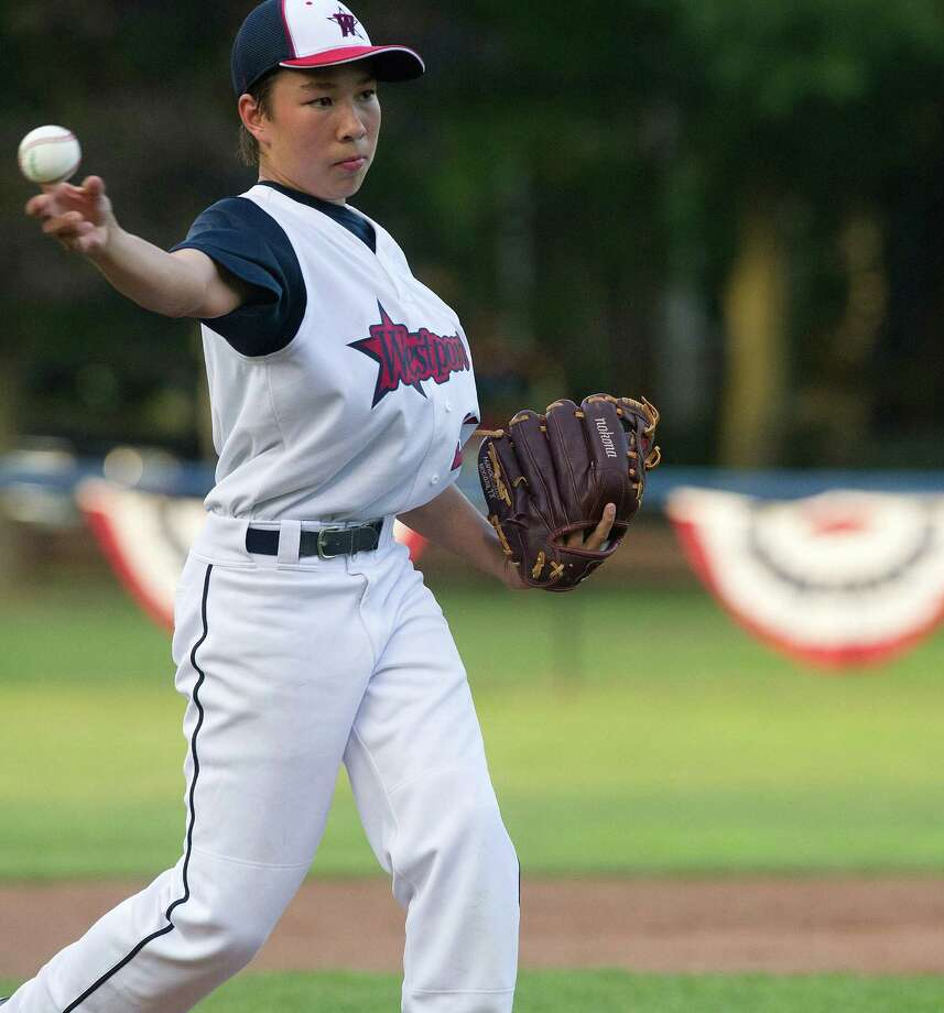 Westport's Chad Knight pitches a no-hitter in Thursday's Section 1 Little League tournament against Edgewood at Springdale Little League Field in Stamford, Conn., on July 18, 2013. Photo: Lindsay Perry / Stamford Advocate