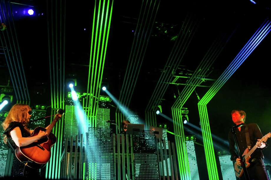 Electronic musical supergroup The Postal Service performs their first headlining tour in a decade to commemorate the tenth anniversary release of their 2003 album, Give Up!, on Thursday, July 18, 2013, at the Key Arena in Seattle. Photo: JORDAN STEAD, SEATTLEPI.COM / SEATTLEPI.COM