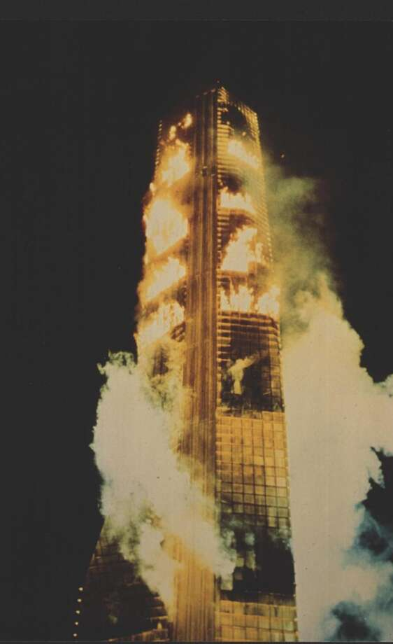 'The Towering Inferno' was shot in downtown S.F. and the Embarcadero, including the Bank of America World Headquarters and the Hyatt Regency. Photo: Handout