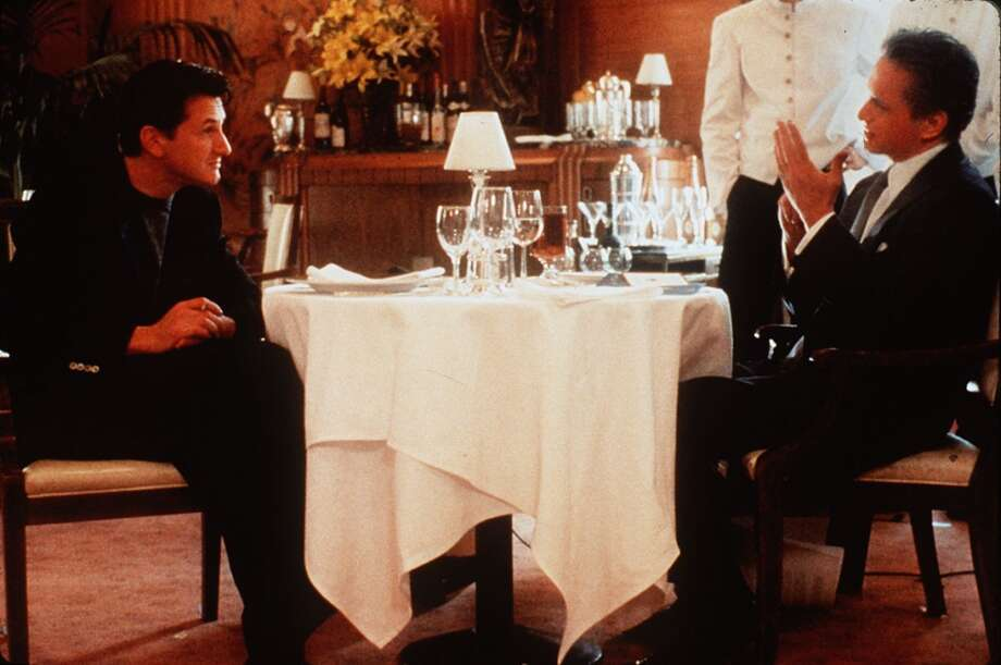 "Sean Penn and Michael Douglas in ""The Game."""