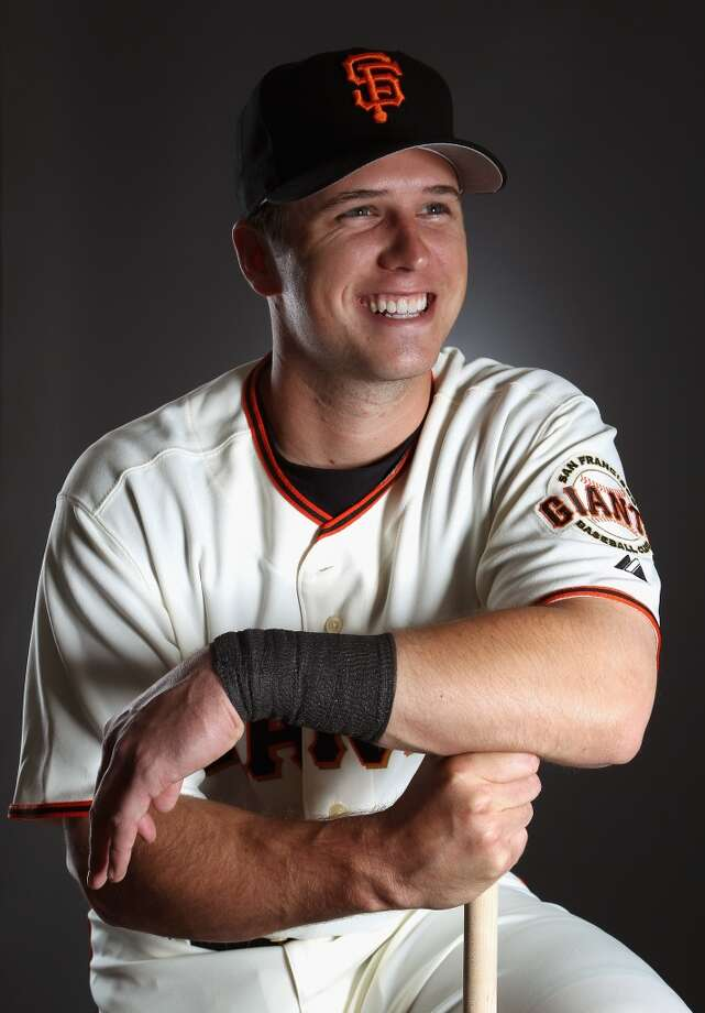 Buster Posey poses for a portrait during media photo day at Scottsdale Stadium on February 23, 2011.